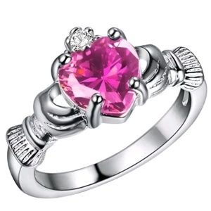 Jewelry - .925 Sterling Silver Irish Baby Claddagh Promise R
